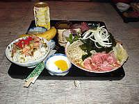 波照間島の民宿たましろ - 食事3(よくわからないけど丼物)
