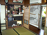 波照間島の民宿照島荘 - 部屋は和室でこんな感じ