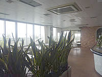 伊江島のホテルヒルトップ伊江島 - 食堂からの景色もいい感じかも?