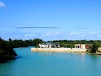 伊良部島のLagoon Villa 龍星/ラグーンヴィラ - 下地島との海峡に突き出す場所にあります