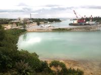 伊良部島のホテルサウスアイランド - 客室からは入江が見えます