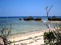西表島の西表ココナッツビレッジ - 目の前には中野のビーチが広がります