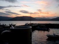 西表島の民宿かまどま - テラスから朝日を望めます