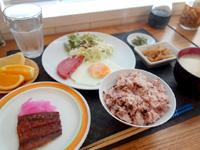 西表島のまるま荘 - 朝食もなかなかいい感じ