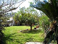 西表島のマリンロッジアトク - 宿には広々とした庭があります