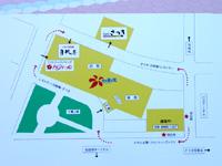 石垣島のホテルミヤヒラ新館/美崎館 - 本館と新館の位置関係