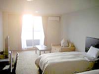 久米島のサイプレスリゾート久米島 (旧 サンリーフリゾート久米島) - シンリ浜が一望できます