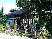 黒島のイリムティア/イリムティヤ/民宿西表屋(閉館) - 自転車も壊れているのか使えるのか不明なものばかり