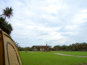 南大東島の村営バンガロー/キャンプ場