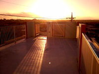 宮古島の民宿島人 - 4階部分の屋上からの景色はなかなか