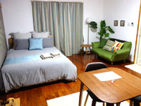 宮古島のサンズガーデン・イン・パイナハマ(旧ペンション&ウィークリーぱいな浜) - 客室はかなり広い