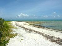 竹富島の星のや竹富島 - コテージから行けるビーチは岩が多い