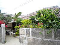 竹富島の民宿のはら荘/野原荘 - 緑豊かな庭先です