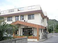 渡嘉敷島の民宿けらま荘 - 宿の入口です