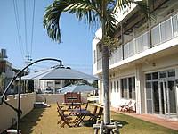 渡嘉敷島のケラマテラス - 庭は阿波連の中では広々
