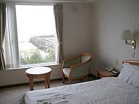 徳之島のホテルグランドオーシャンリゾート - こんな感じで部屋から海が望めます
