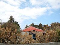 与那国島の比川 おじぃーの家(Drコトー診療所ロケ地・宿は祖内へ移転・現在は民家だが廃墟化) - 脇から見ると台風の影響が伺えます