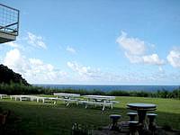 与那国島のホテル入船アネックス/バンブーヴィラ - 宿からは比川浜が一望