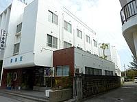 与論島のホテル青海荘 - 手前が本館で奥が新館