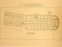 与論島のホテル青海荘 - フロアマップ(左が新館で右が本館&入口)